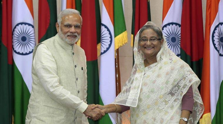 narendra modi, narendra modi in bangladesh, pm modi in bangladesh, modi live, Prime Minister Narendra Modi, Modi in Dhaka, PM Modi, Modi, Narendra Modi Bangladesh, Bangladesh Narendra Modi, Modi Bangladesh visit, Bangladesh news, Teesta deal, Teesta water issue, Khaleda Zia, BNP chief Khaleda Zia, Sheik Hasina, Vajpayee, Bangladesh award Vajpayee, Modi news, India news