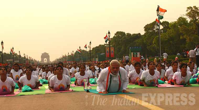 Narendra Modi, Narendra Modi Yoga, International yoga day, yoga day, Shiv Sena, Sena yoga day, Saamna, Shiv sena Modi, Modi Shiv sena, India latest news