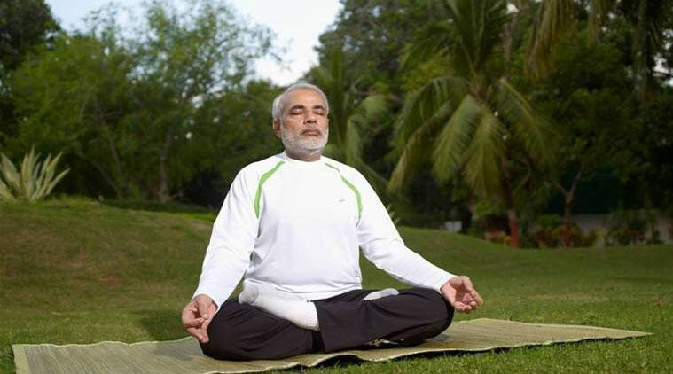 yoga day, international yoga day, PM Modi, Narendra modi, Putin, Russian President, Narendra Modi, Ayush department, Yoga day celebrations, Modi doing Yoga, india news, June 21 Yoga day, Yoga day news, latest news
