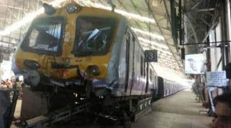 Train rams into buffer, 5injured