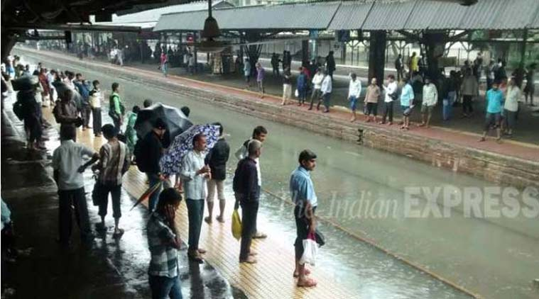 Mumbai Rains, Mumbai Railways, Mumbai train service, Mumbai news, Mumbai suburban railway stations, , Mumbai commuters, nation news, india news,