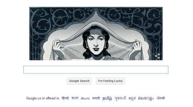 nargis, nargis dutt, nargis dutt google doodle, google doodle, india doodle