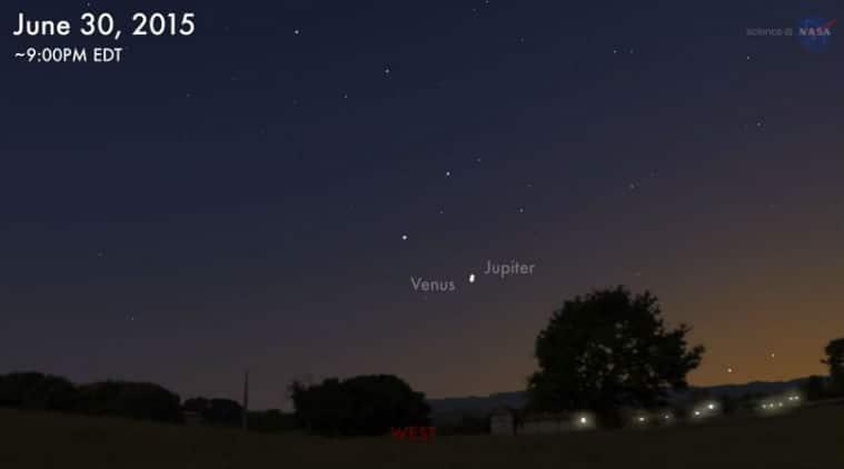 Jupiter, Venus, Amazing sunset sky show, Jupiter Venus, Jupiter-Venus Converge, NASA, Jupiter-Venus-Moon, Jupiter and Venus set to come close, Jupiter in the Sky, Star gazing, Space news, Stars, Technology, Science  and Technology, NASA space, Space