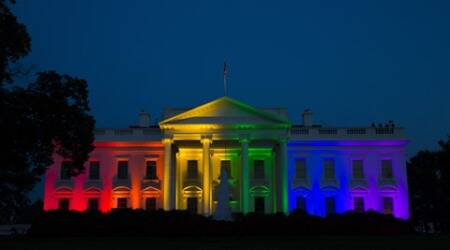 white house, US gay marriage, US supreme court, US same sex marriage, same sex marriage us, white house rainbow, white house rainbow lights, rainbow lights, us gay marriage, us lesbian marriage, us gay marriage legal, barack obama, obama, white house, us news, world news, indian express