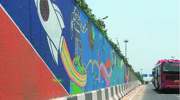 oreo, oreo mural art, oreo cookies, cookies mural, PWD, Moolchand underpass, delhi news, city news, local news, Indian Express