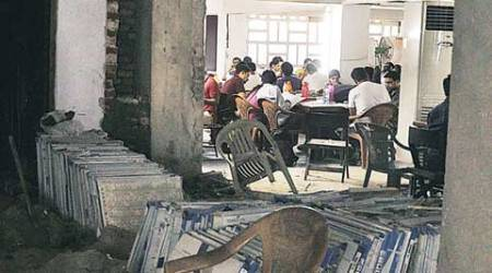 Renovation under way at PU library, students to be shifted to examhall