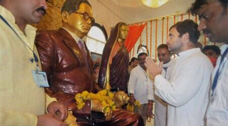 At Ambedkar birthplace, Rahul Gandhi calls for 'caste annihilation'