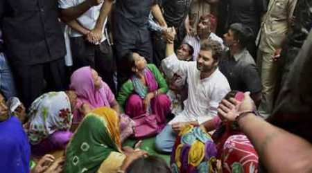 Rahul Gandhi meets sanitation workers for the secondday