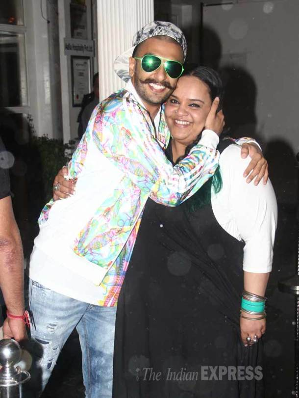 Party time for Ranveer Singh, Huma Qureshi
