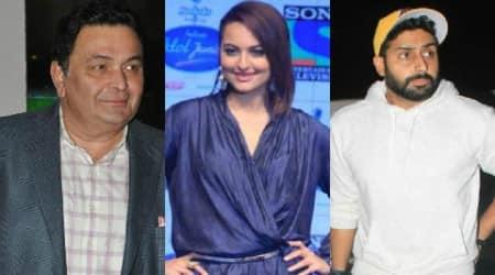 Rishi Kapoor, Sonakshi Sinha, Abhishek Bachchan