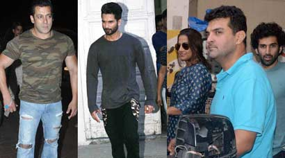 Busy men Salman Khan, Shahid Kapoor; Family time for Vidya Balan