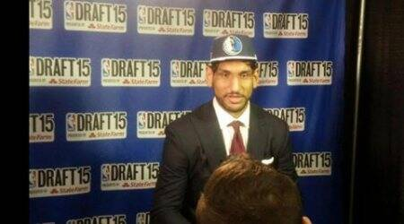 Satnam gets his official Dallas Mavericks locker