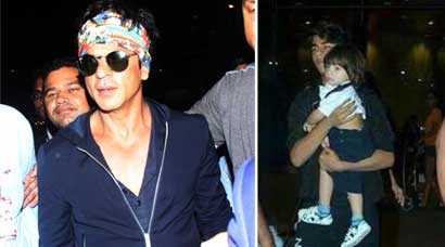 shah rukh khan, abram, aryan, srk, srk kids, shah rukh khan abram, abram pics, abram pictures, abram aryan pictures, abram shah rukh khan, shah rukh khan abram pics, shah rukh khan kids pictures, shah rukh khan sons pictures, entertainment, ilwale, shah rukh khan at airport, srk airport