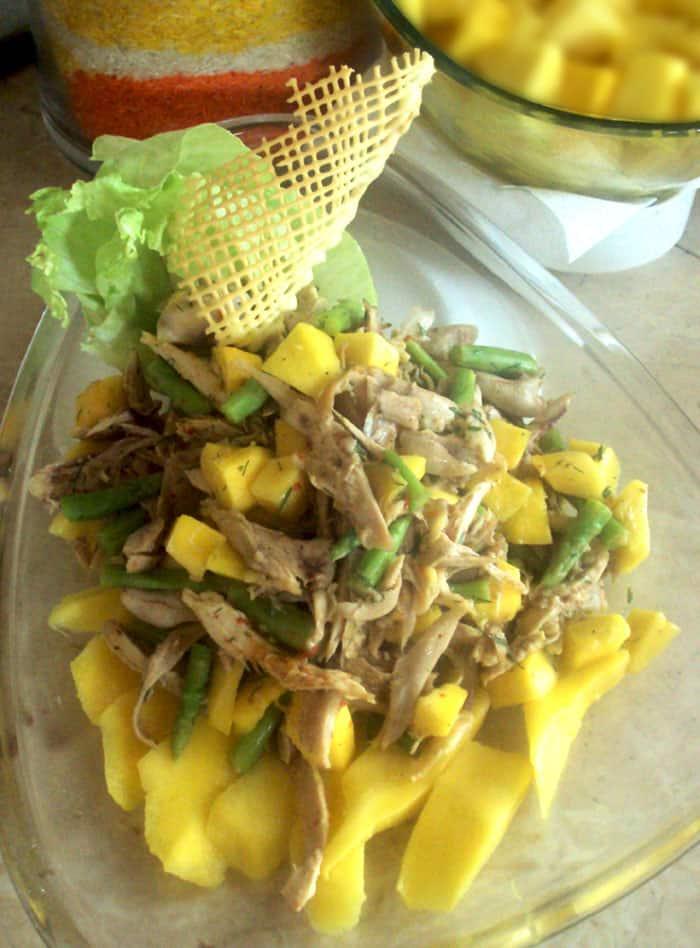 Smoked Mango salad