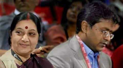 Sushma Swaraj, Lalit Modi, Lalit Modi row, Lalit Modi Sushma Swaraj row, former IPL chief Lalit Modi, Lalit Modi controversy, india news, nation news