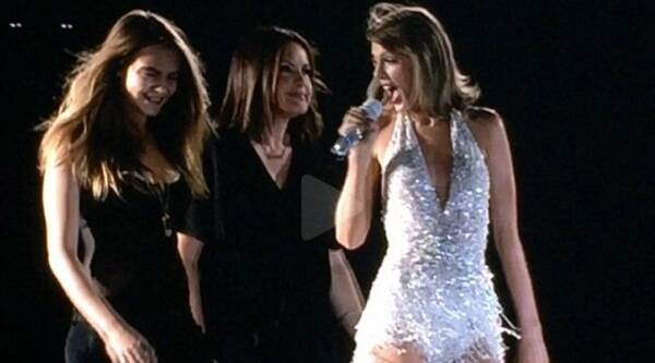 Taylor Swift, Cara Delevingne, Mariska Hargitay, GigiHadid, Martha Hunt, Imagine Dragons, Little Big Town, Taylor Swift Live, Taylor Swift Live Performance, Taylor Swift Cara Delevingne, Taylor Swift Concert, entertainment news