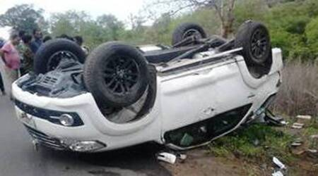 Rajender suv accident, rajender accident, telangana accident, telangana news, telangana minister accident, hyderabad news, india news, breaking news