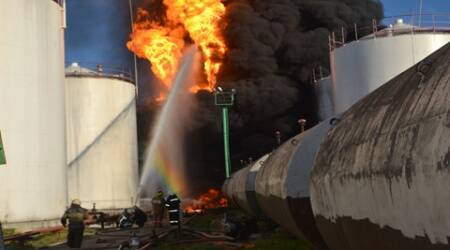 ukraine, ukraine news, ukraine fue depot, fuel depot fire, fire at fuel depot, ukraine depot, ukraine fuel depot, fire in ukraine, europe news, international news