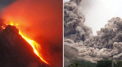 indonesia, indonesia volcano photos, photos indonesia volcano, Mount Sinabung, Sinabung erupts, Sinabung photos, Sinabung volcano, Sinabung volano photos, indonesia evacuation, indonesia news, world news