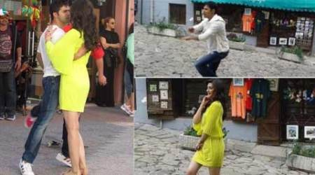Varun Dhawan, Kriti Sanon shooting 'Dilwale' song in Bulgaria