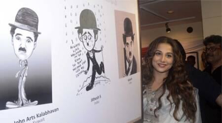 Vidya Balan's tribute to CharlieChaplin