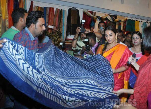 Vidya Balan has a crafty day, inaugurates Madhya Pradesh handloom and handicrafts sale