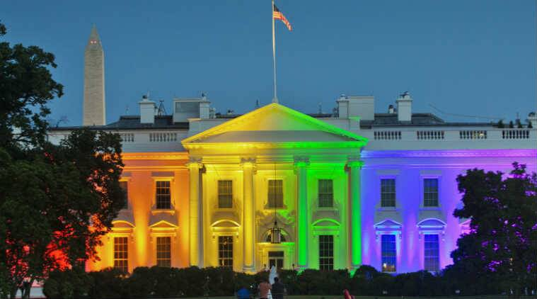 Facebook to Apple: Every tech company is celebrating gay pride. Here the White House is seen in rainbow colours. (Source: Associated Press)