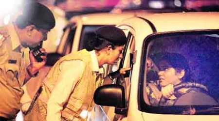 Drive against drunk driving: Furtive glances, smiles greet woman cops