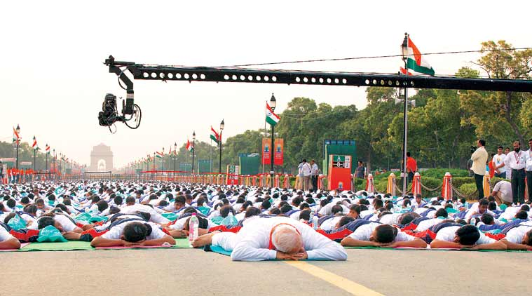 yoga, international yoga day, yoga day, yoga day in Guinness book, Guinness book, Guinness World Records, yoga day celebration, june 21yoga day, international day of Yoga, Guinness world record, Yoga Guinness world record, yoga day world record, yoga day record, rajpath yoga record, rajpath yoga day record, india news, world record news, top stories, latest news