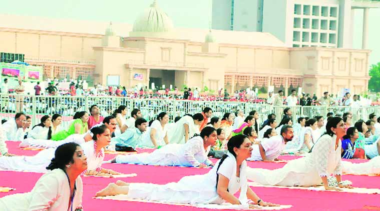 yoga, school yoga compulsory, compulsory yoga subject, smriti irani, hrd minister smriti irani, smriti irani yoga proposal, yoga, yoga day, school yoga classes, india news, chandigarh news
