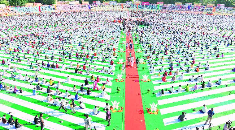 international Yoga Day, Yoga Day, AMU, AMU VC, yoga religion, physical exercise, lucknow news, city news, local news, UP news, Indian Express
