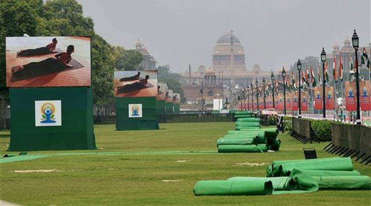 International Yoga Day, Rajpath, Yoga rehearsal, Yoga participants, AYUSH ministry, yoga asanas, Narendra Modi, Modi Yoga, World Yoga Day, Nation news, India news
