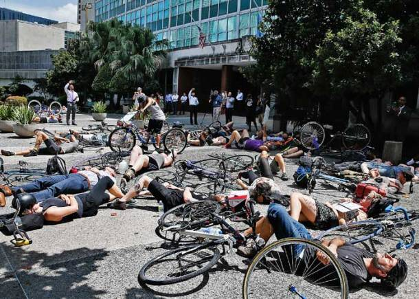 Cycle accidents, US cycle accidents, New Orleans cyclist, cyclists protest, road safety