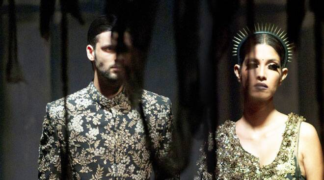 "Day 1: Sabyasachi inaugurates India Couture Week with his ""dark, gothic and sexual"" collection"