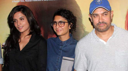 Aamir Khan, wife Kiran Rao at the screening of Richa Chadha's 'Masaan'