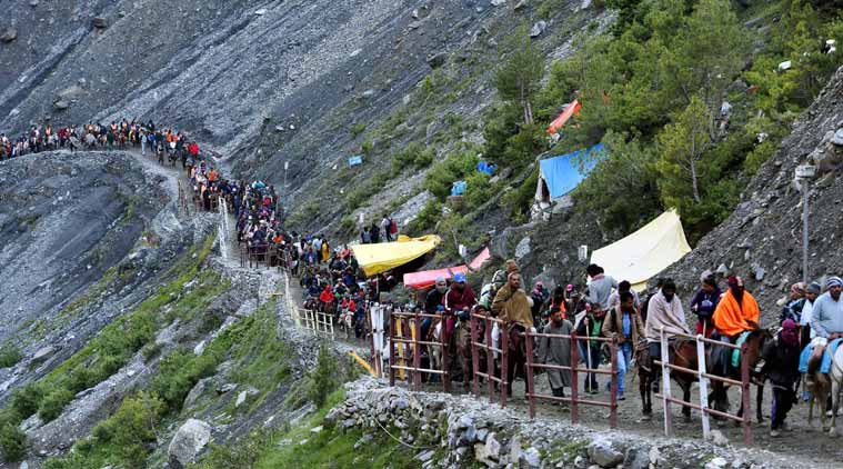Amarnath Yatra, Amarnath Yatra registration, Jammu and Kashmir, Raksha Bandhan, India news, Indian express