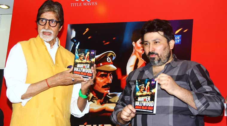 "Amitabh Bachchan, launching Shadab Amjad Khan's book ""Murder in Bollywood"" on Tuesday (July 14), recalled his friendship with his late father, Amjad Khan, as he light-heartedly urged him to leave books and follow the family tradition of joining the film industry. (Source: Varinder Chawla)"