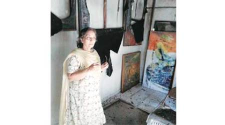 Weeks before exhibition, septuagenarian loses 30 artworks to fire