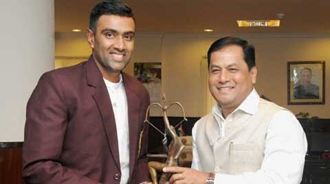 R Ashwin receives the Arjuna Award