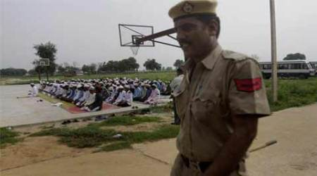 Basketball court becomes Idgah in riot-hit village