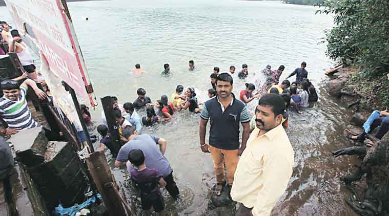 bhushi dam, bhushi dam accident, bhushi dam death, bhushi dam drowning, man drowns at bhushi, bhushi death, bhushi drowning, pune dam, pune dam death, bhushi dam lifeguard, bhushi lifeguard, bhushi dam security, pune news, india news