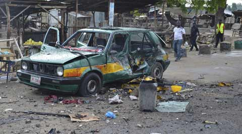 Female suicide bomber blows herself up in Nigeria market