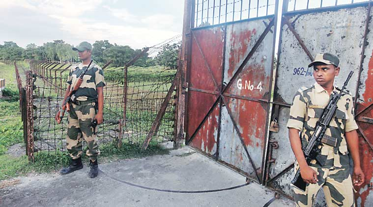 Gate No 4 at the Indo-Bangla border, one of the two gates from where ...