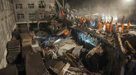 china factory, china factory collapse, china factory accident, china shoe factory collapse, china shoe factory accident, china news, asia news, world news, indian express