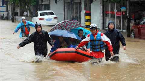 9 swept away by flash flood in China; 8 bodies recovered