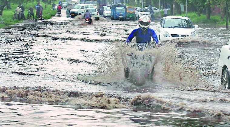 rain,. monsoon, chandigarh rain, chandigarh monsoon, waterlogging,Municipal Corporation , chandigarh news, city news, local news, Indian Express