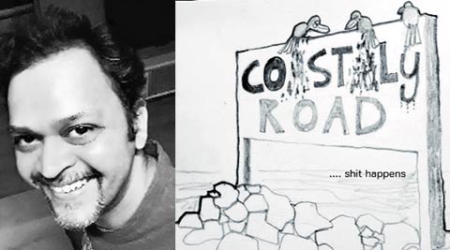 'Cartoons mightier than words': Prof objects to coastal road viasketches