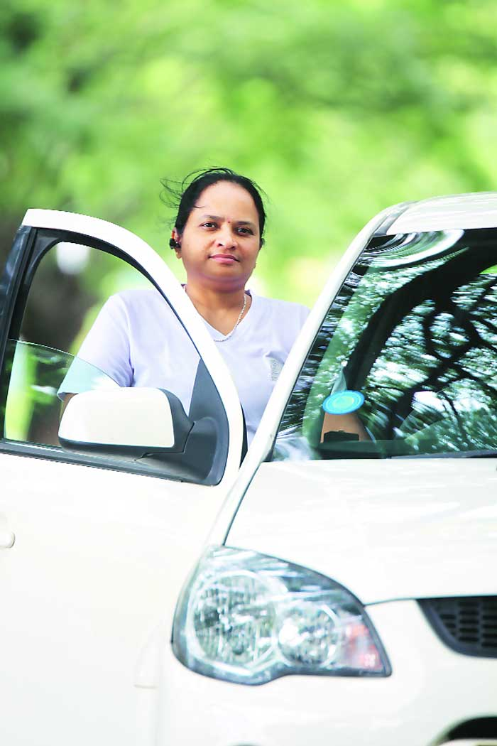 Bharathi Veerath was one of the first woman cab drivers