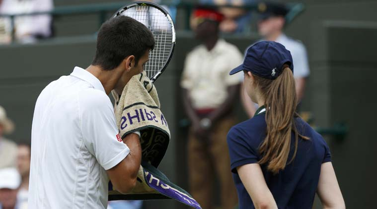 Wimbledon 2015 Novak Djokovic Sorry After Screaming At Ball Girl Sports News The Indian Express