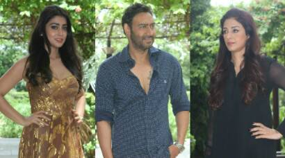 'Drishyam' team – Ajay Devgn, Tabu, Shriya Saran come to Delhi